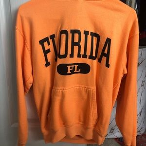 Sweaters - Neon Orange Florida Sweatshirt